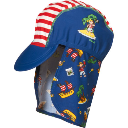 ed489a78359dc5 Playshoes Boys UV-Bescherming Zonnepet Pirateneiland rood/wit ...